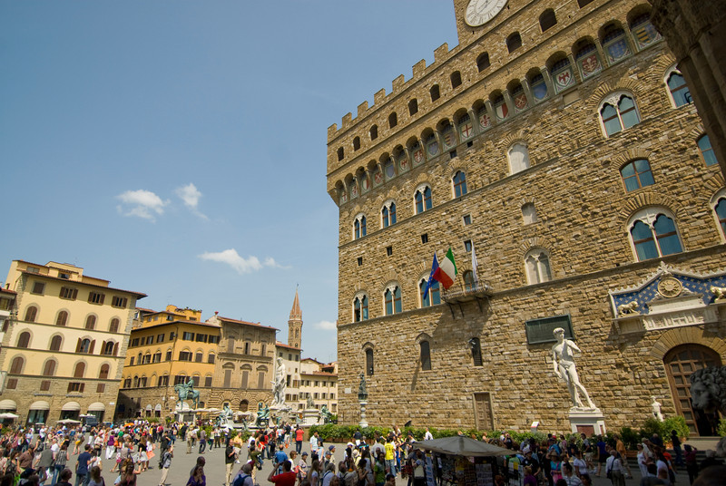 Statue of David in front of Palazzo Vecchio in Florence, Italy