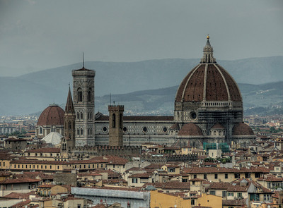 The Florence Cathedral dome in Florence, Italy