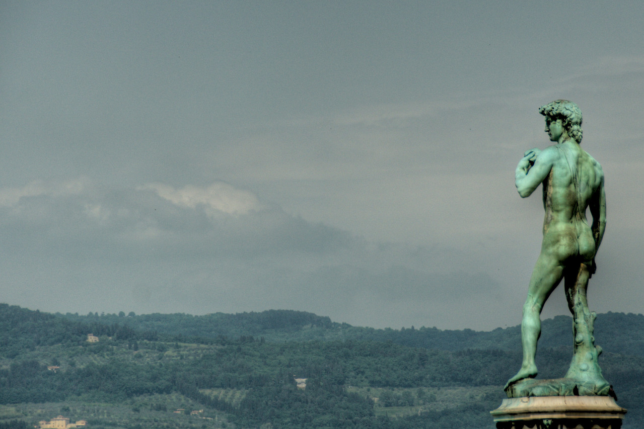 Statue of David by Michaelangelo at Piazzale Michaelangelo in Florence, Italy