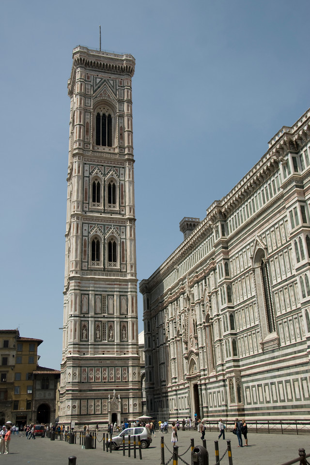 Giotto's Campanile or bell tower in Florence, Italy