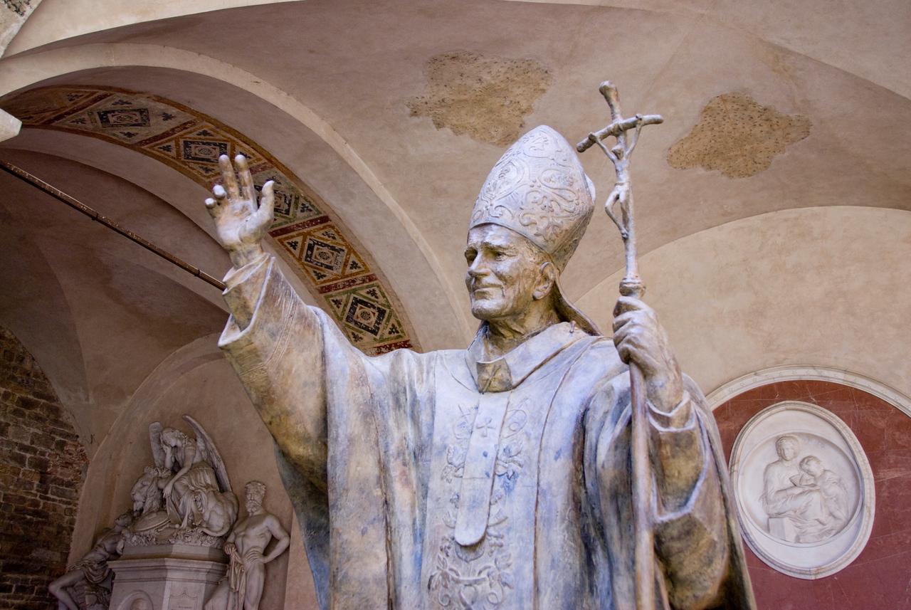 Pope John Paull II statue in Florence, Italy