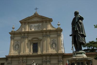 The San Marco church facade in Florence, Italy