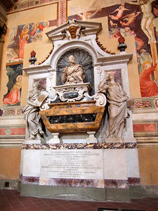 Galileo's grave in Basilica of Santa Croce