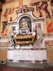 Galileo's grave in Basilica of Santa Croce