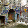 Italy, Herculaneum,Colorful Mosaics, Outdoor Firepit