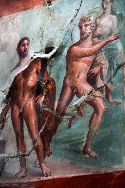 Italy, Herculaneum, Fresco Scene, Temple of Augustus