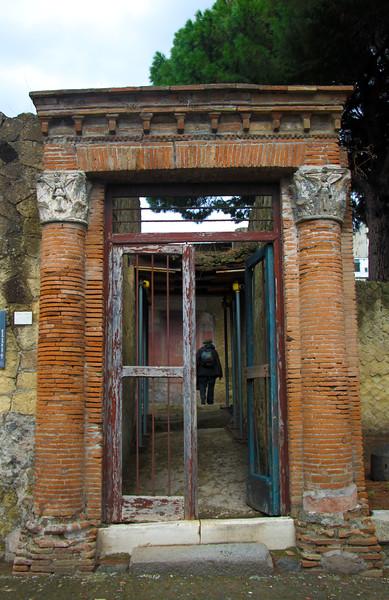 Italy, Herculaneum, Ancient Portal