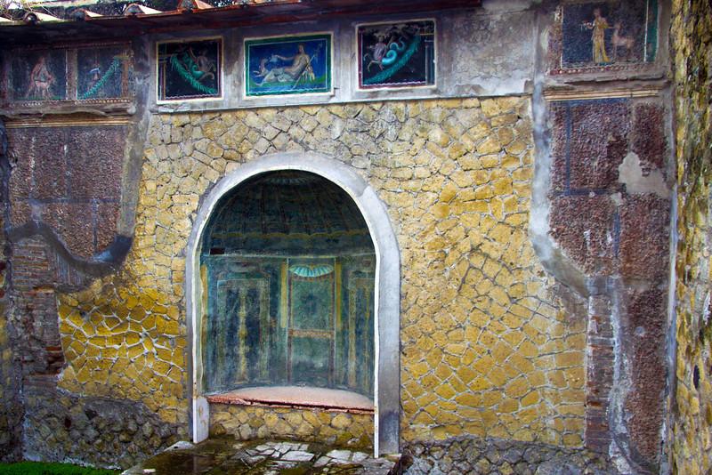 Italy, Herculaneum, Grotto in Villa
