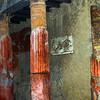 Italy, Herculaneum, Red Columns in Villa