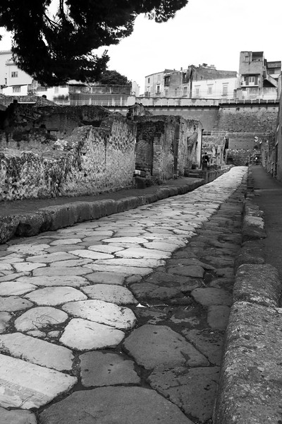 Italy, Herculaneum, Ancient Road