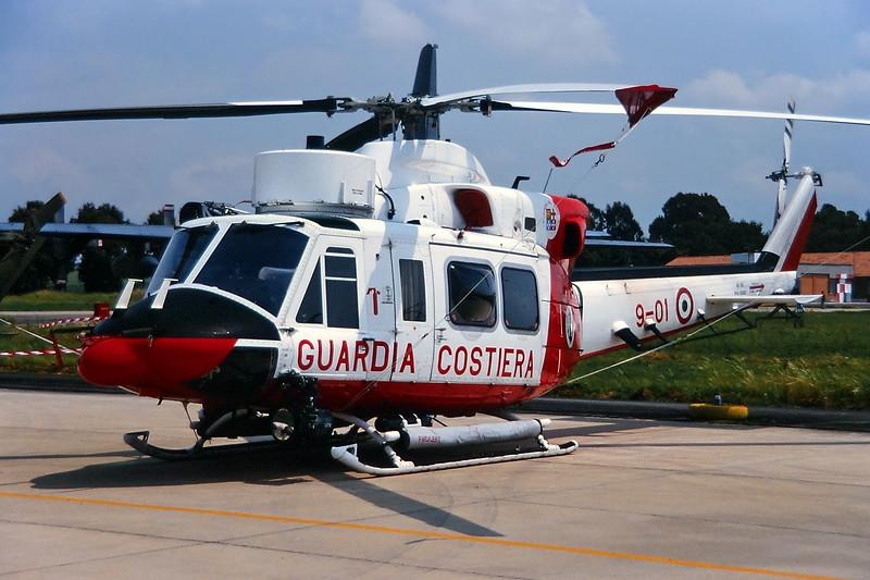 """MM81382 (9-01) Agusta-Bell AB.412CP """"Guardia Costeria"""" c/n 25616 Pratica di Mare/LIRE 24-05-98 (35mm slide)"""
