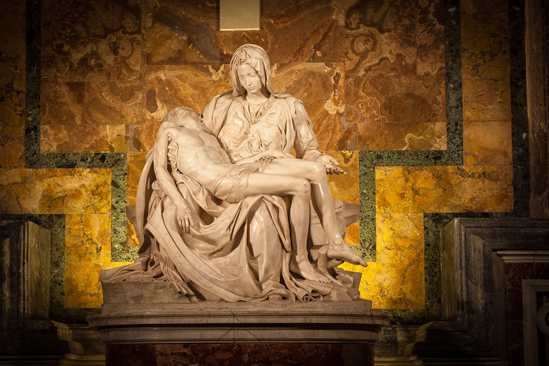 Pieta by Michelangelo - circa 1500 - St. Peters Basilica