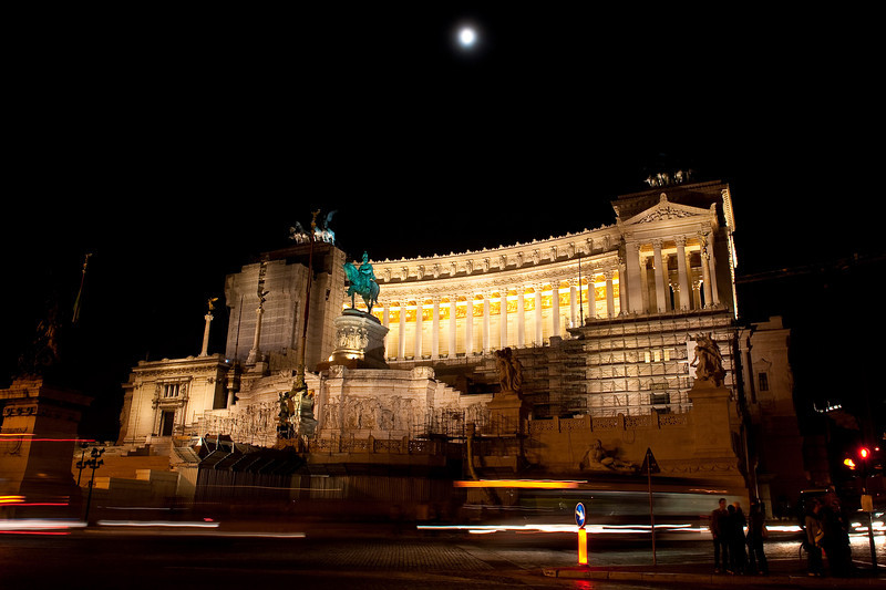 Victor Emmanuel Monument in Moon Light