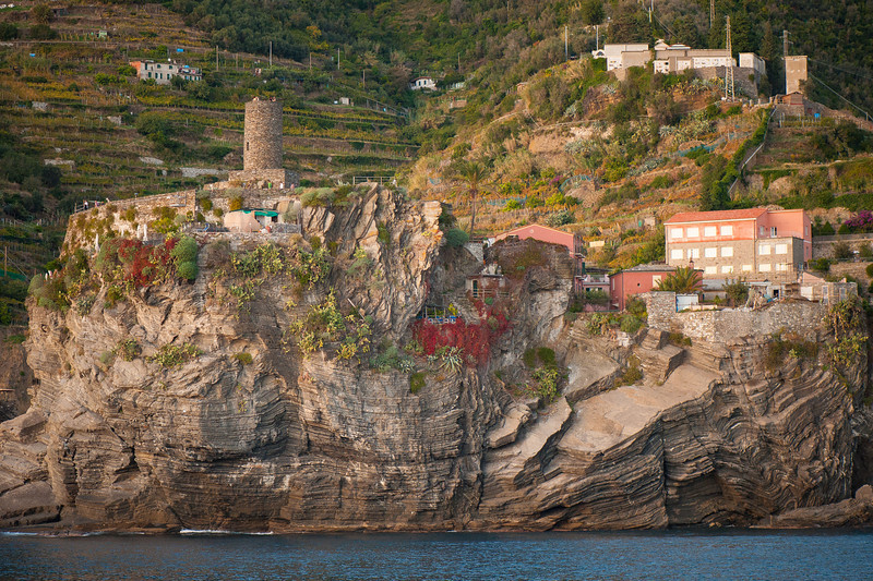 Town of Vernazza from a Boat