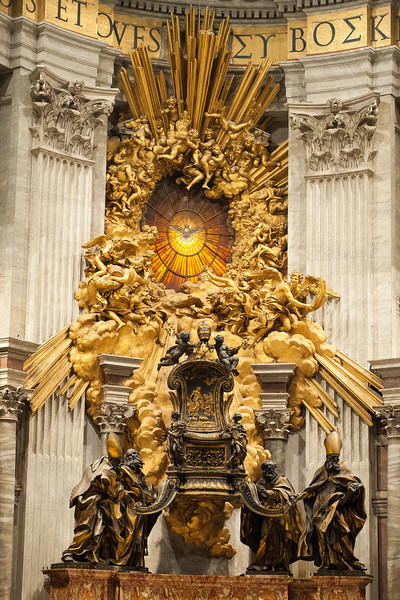 Dove window and Throne of Peter by Bernini