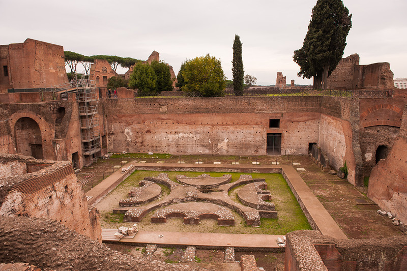 Domus Augustana - Lower Courtyard Palatine Hill Rome