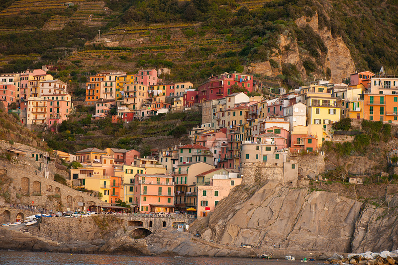 Town of Manarola from a Boat