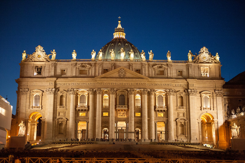 Evening at St. Peter's Basilica
