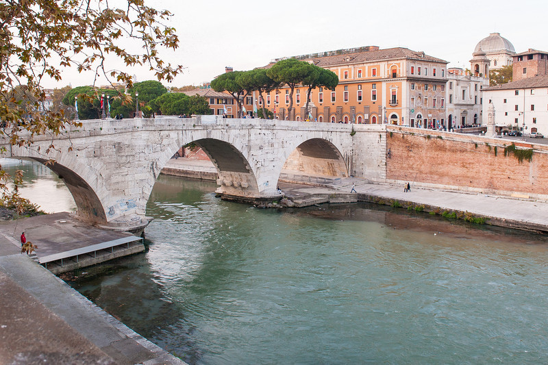 Point Sisto Bridge Over the Tiber