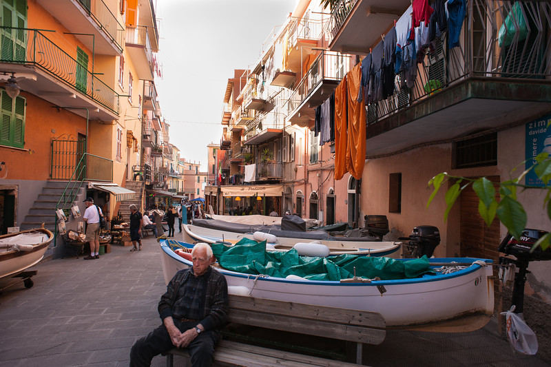 Boat Parking in the Streets of Manarola