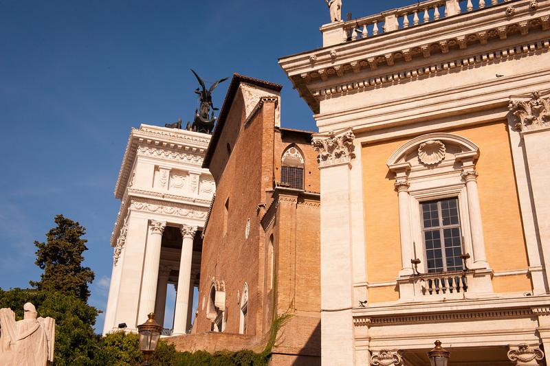 Palazzo Nuovo, Sta. Maria Aracoeli, and Victor Emmanuel Monument
