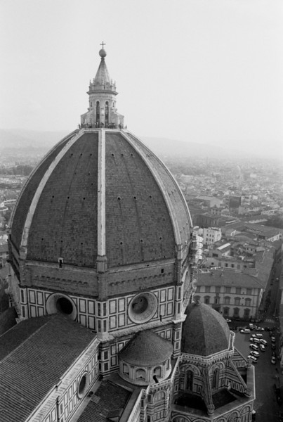 Il Duomo (Cathedral) in Black and White - Florence, Italy