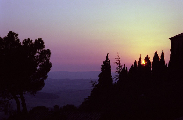 Sunset over Val D'Orcia - Tuscany, Italy
