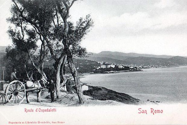The road to/from Ospedaletti, which lies to the west of San Remo
