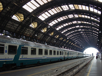 Trenitalia train at Milano Centrale train station, Milan - Italy.
