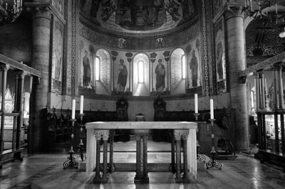 The altar at Modena Cathedral in Modena, Italy