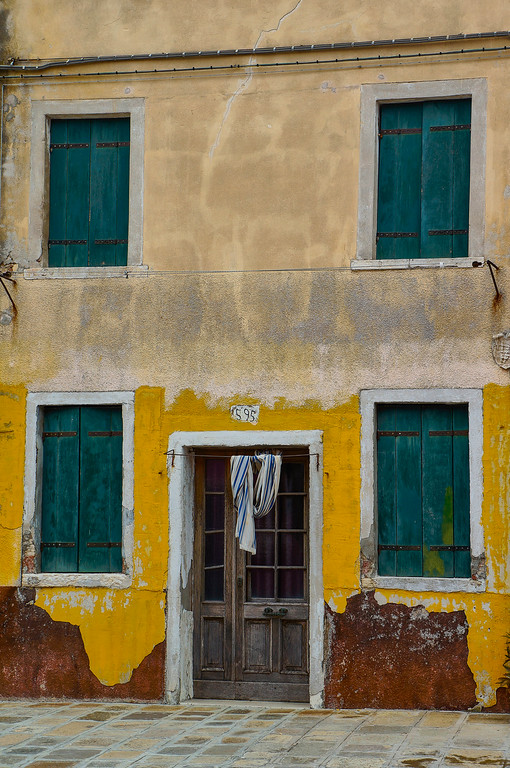Old house in Burano, Italy