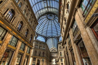 Inside the Galleria Umberto I In Napels, Italy