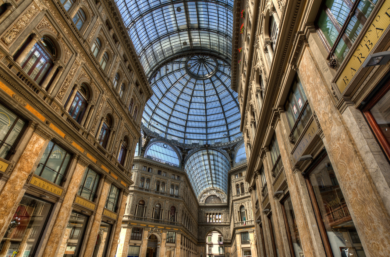 Inside the Galleria Umberto I In Napels, Italy