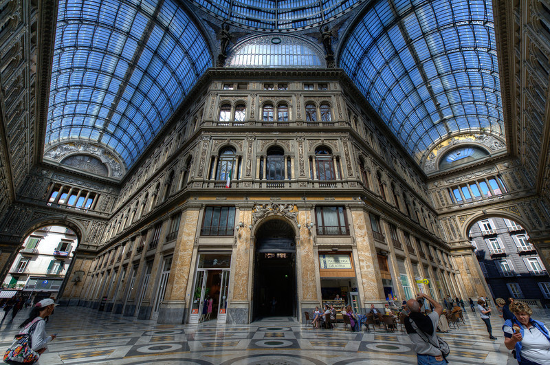 Inside the Galleria Umberto I - Naples, Italy
