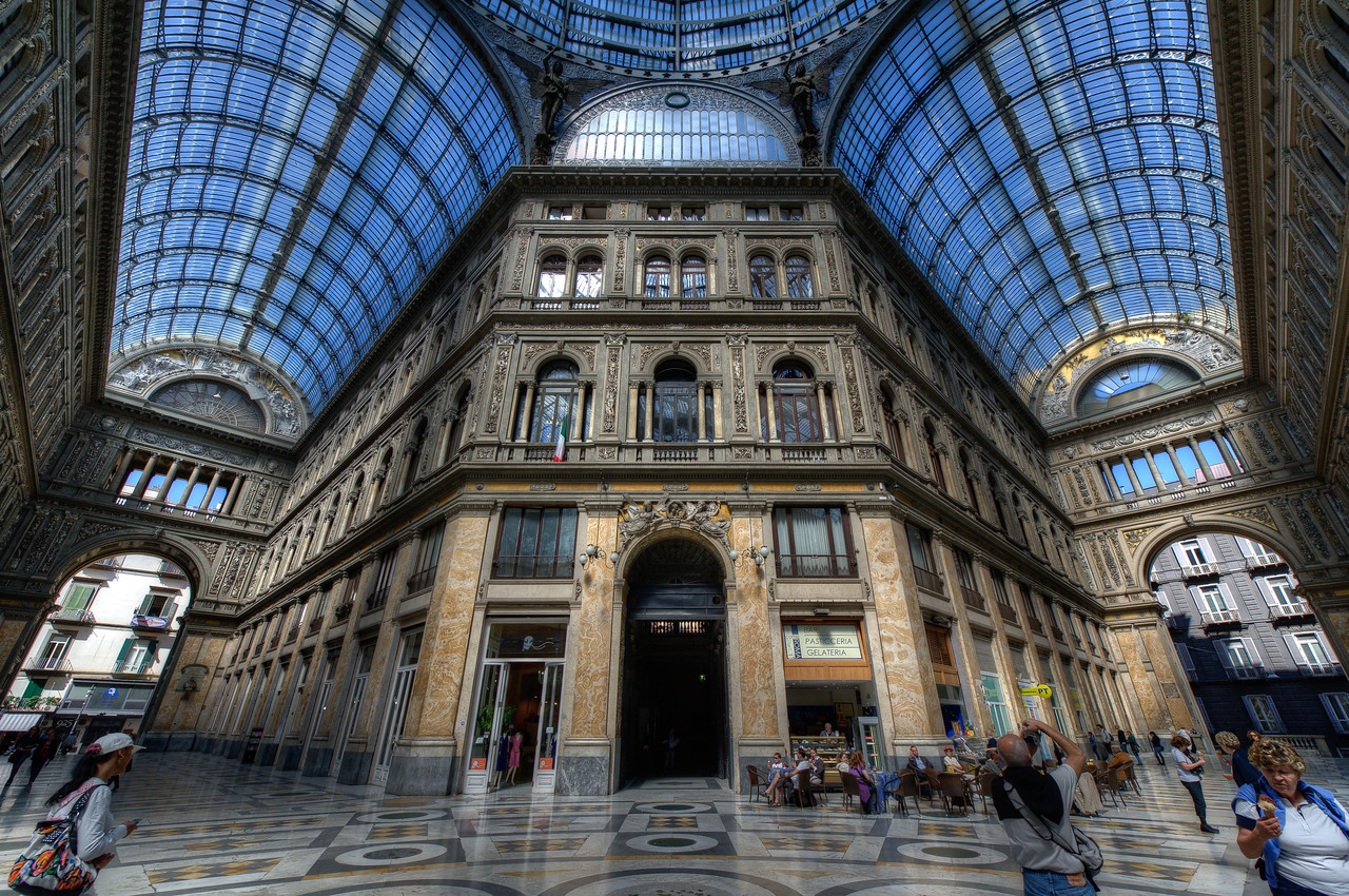 Inside the Galleria Umberto I - Naples, Italy