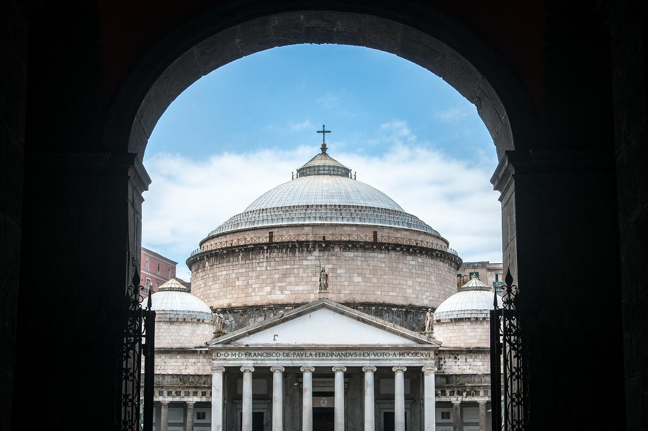 The Church of San Francesco di Paola in Naples, Italy