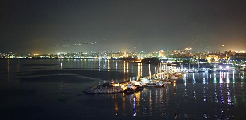 Bay of Naples at night