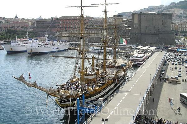 Naples - Italian Navy Training Ship