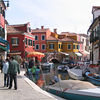 The colorful buildings of Burano