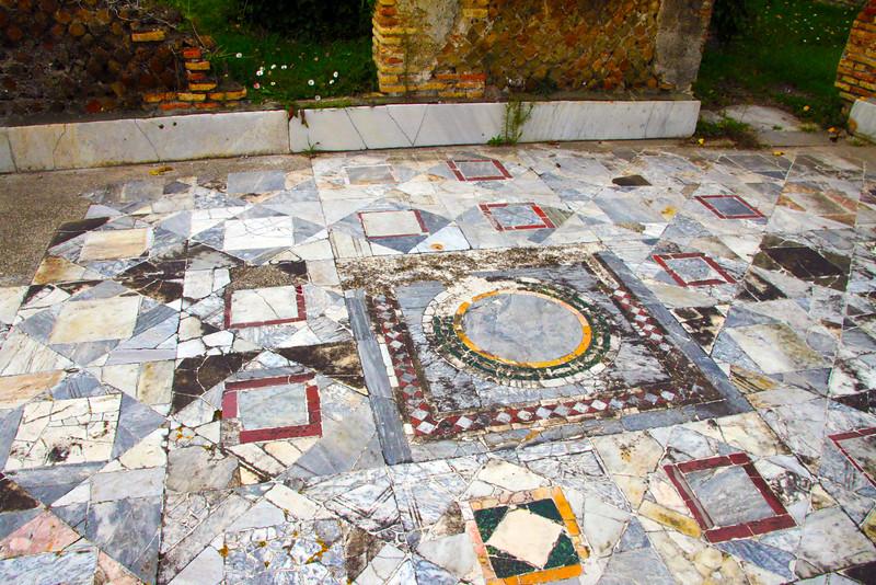 Italy, Ostia Antica, Marble Floor