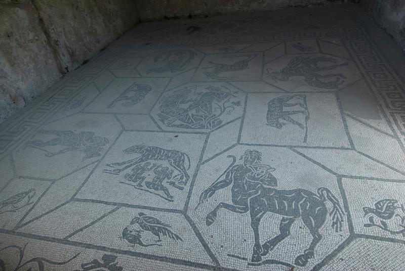 Mosaic floor at Ostia Antica, Italy