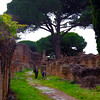 Italy, Ostia Antica, Path through Ruins