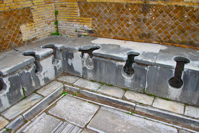 Italy, Ostia Antica, Public Latrine
