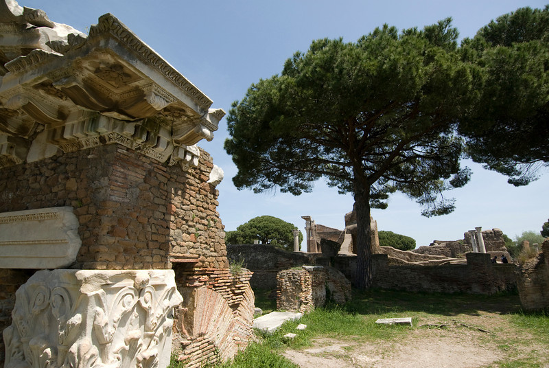 Details of ruins at Ostia Antica, Italy