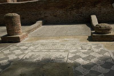 Mosaic floor in Ostia Antica, Italy