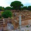 Italy, Ostia Antica, Panorama