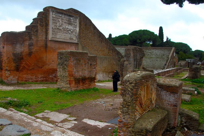 Italy, Ostia Antica, Ampitheatre