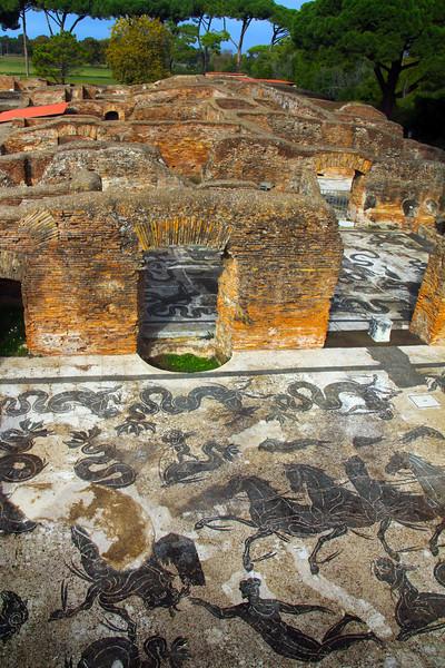 Italy, Ostia Antica,  Mosaic Floors