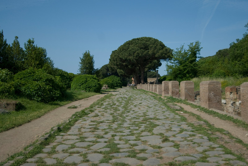 Main walkway at Ostia Antica, Italy