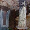 Italy, Ostia Antica, Garden Statue
